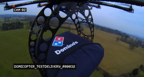 Pie in the sky: Domino's delivers pizzas via octocopter
