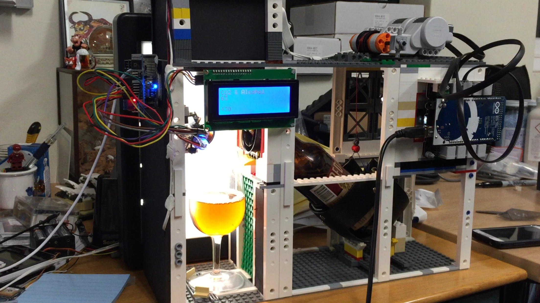 Robobeer robotic beer pourer using lego and arduino the